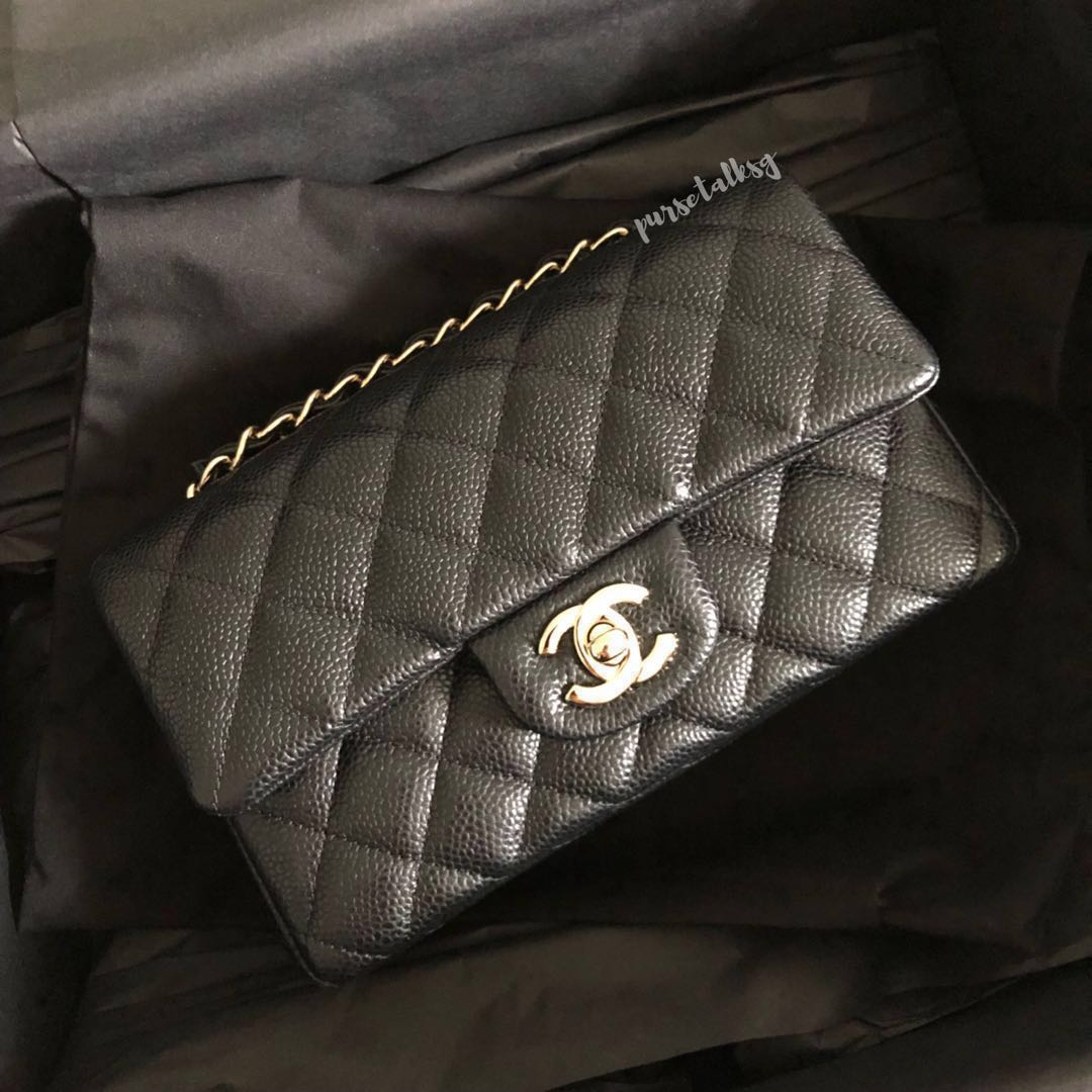 4c3cbc0e5a2b81 Chanel 18S Black Mini Rectangle GHW, Luxury, Bags & Wallets ...
