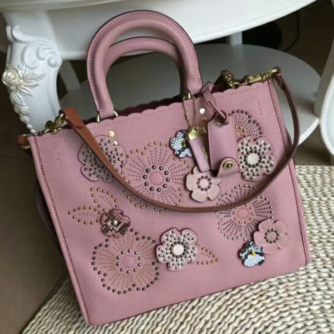 Coach Flower Pink Handbag