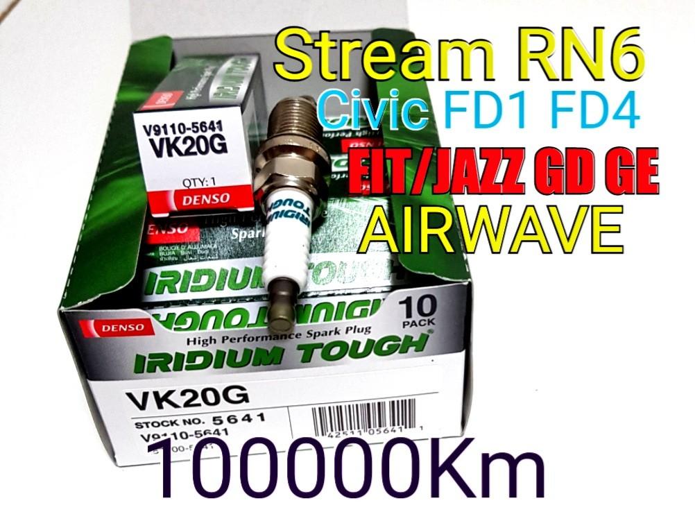 X1 Denso Spark Plug VK20G 5641 Iridium Tough fits Honda Accord CR V Life