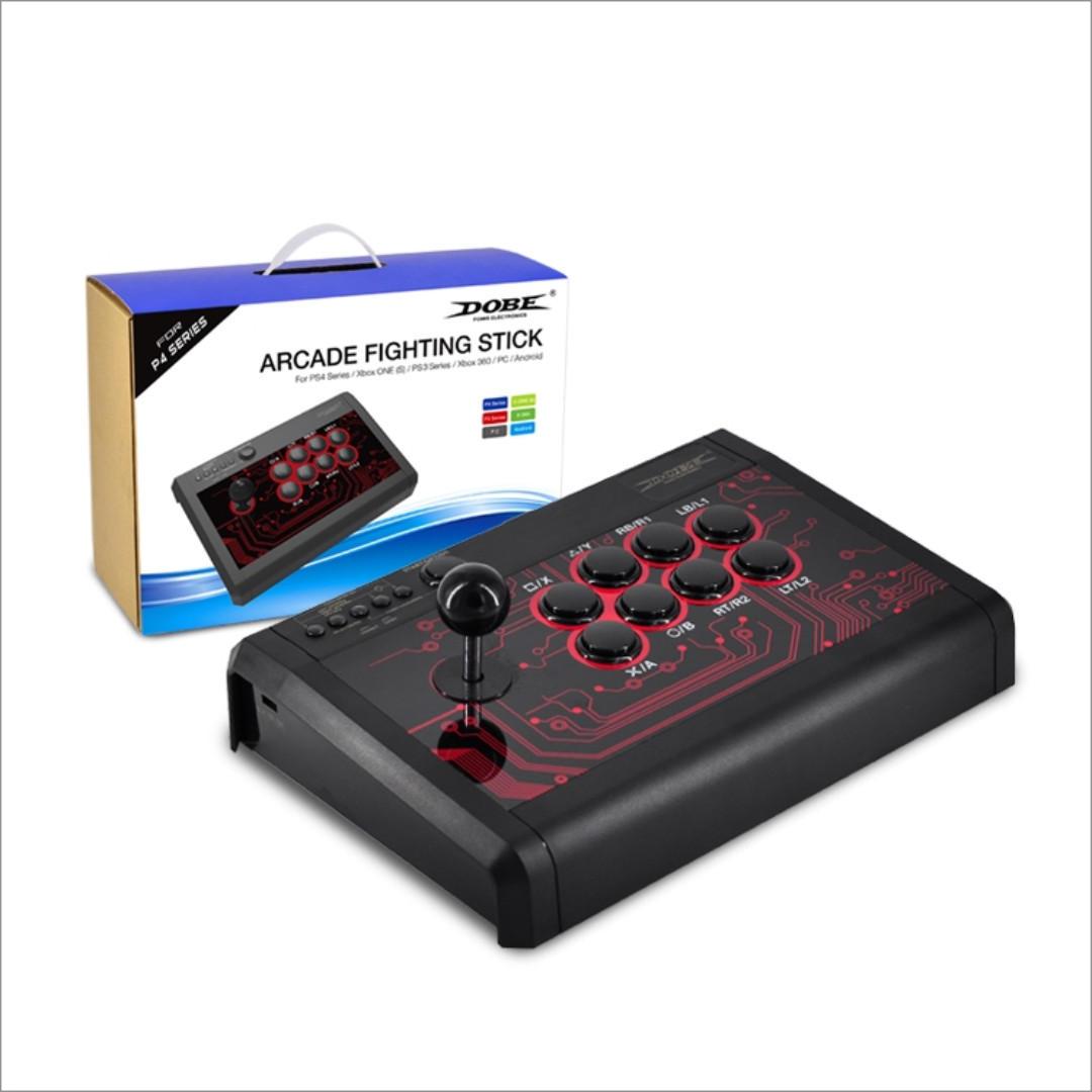 Dobe 6 In 1 Arcade Fighting Stick (PS4/PC/XB/XB360/PS3