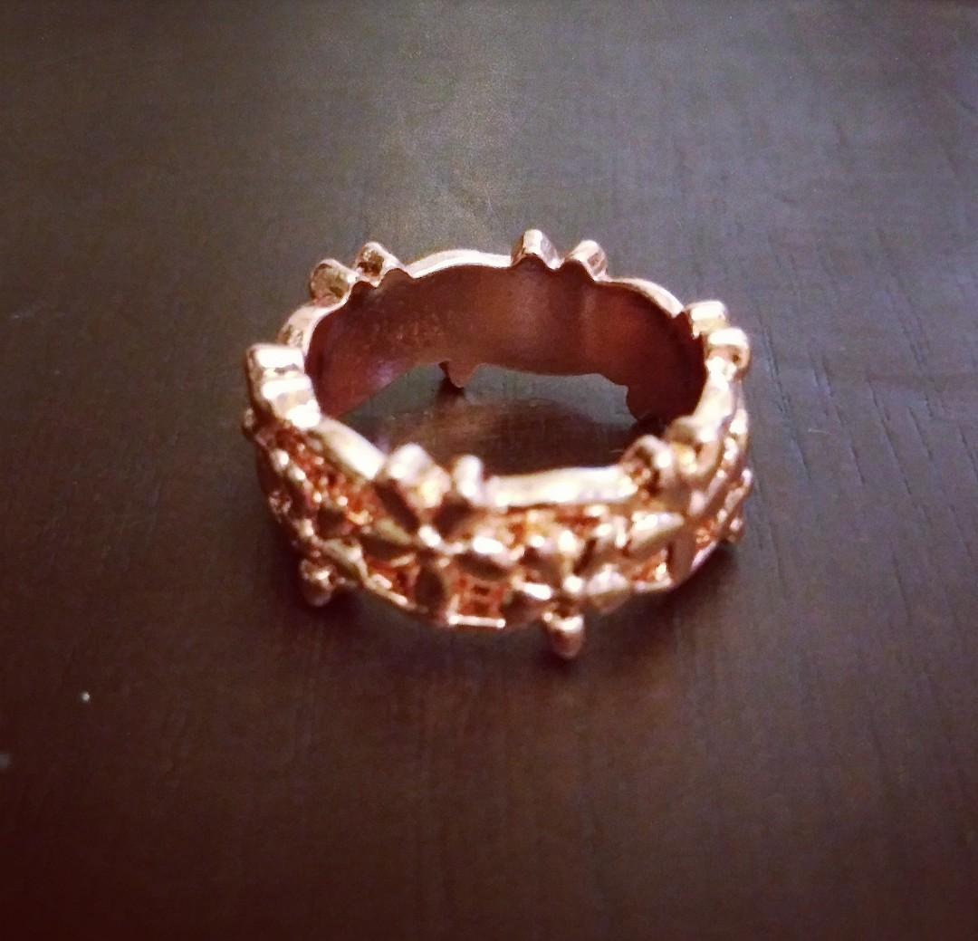 Faux Rose Gold Ring Size 7