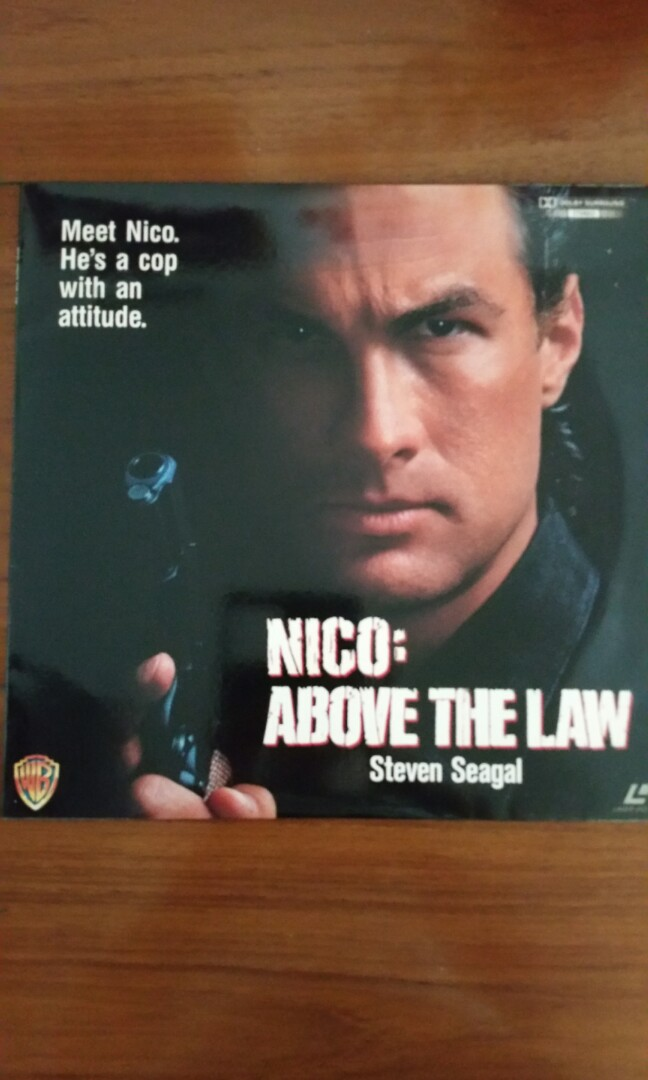 Good condition Collectible Laser Disc NICO: Above the Law