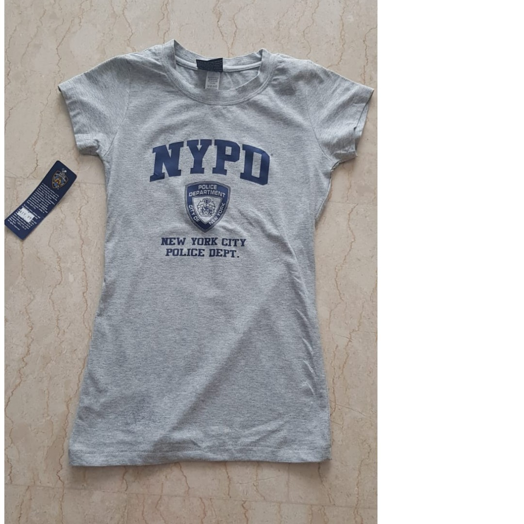 854434dad Super chic grey NYPD T-shirt bought in New York, Women's Fashion ...