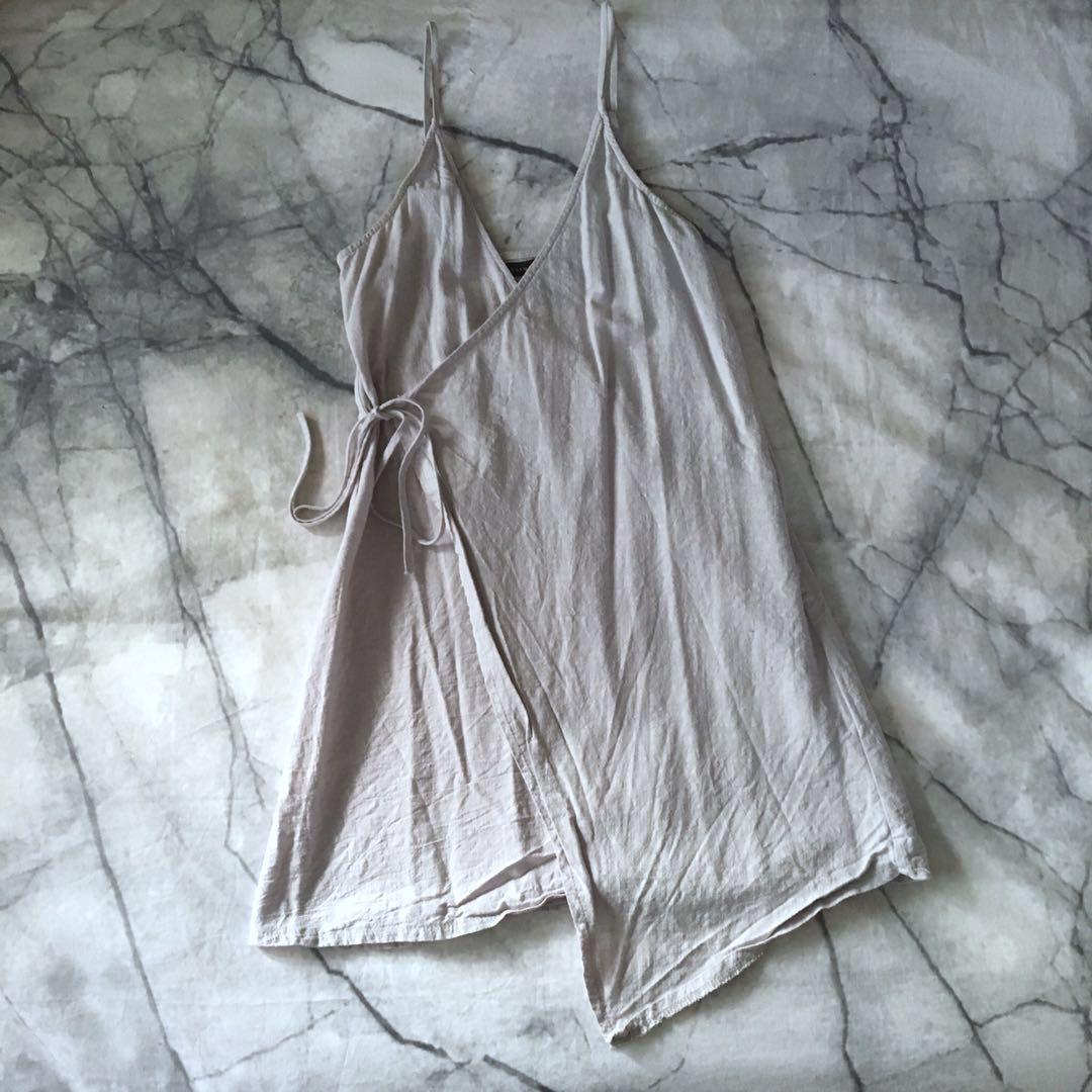 Grey wrap dress 6