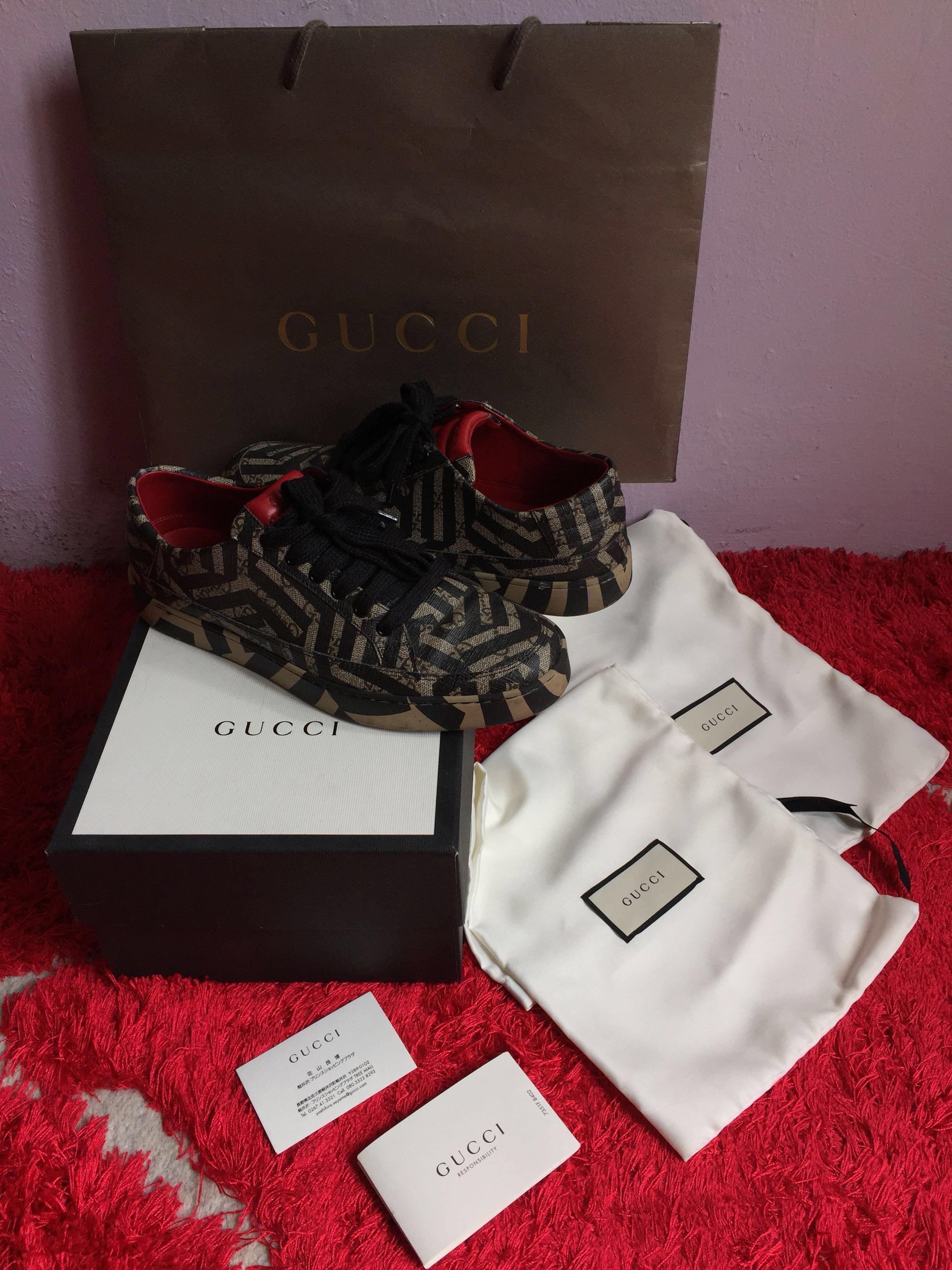 2b8f8ae8986 Gucci Authentic GG Supreme Caleido Sneakers