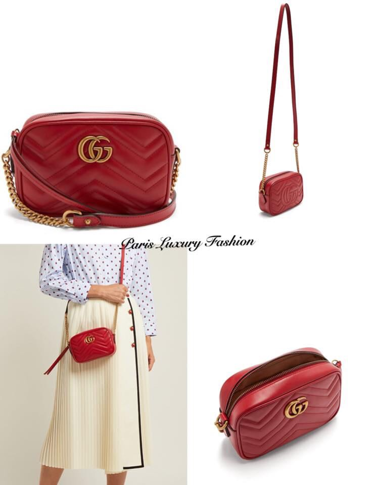 94aaeaa89a09 Gucci Marmont quilted cross-body bag, Women's Fashion, Bags ...