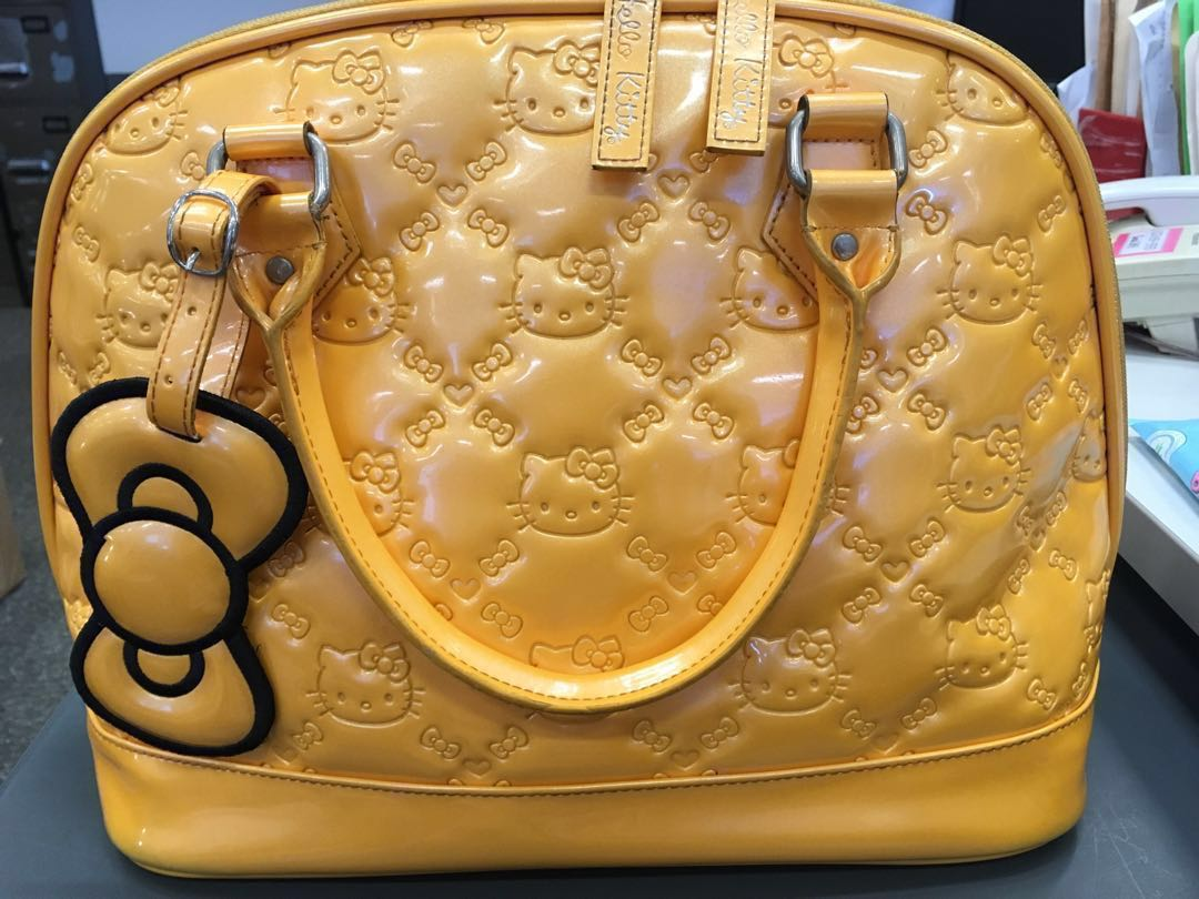 883f26bc79d1 Hello Kitty Embossed Dome Bag