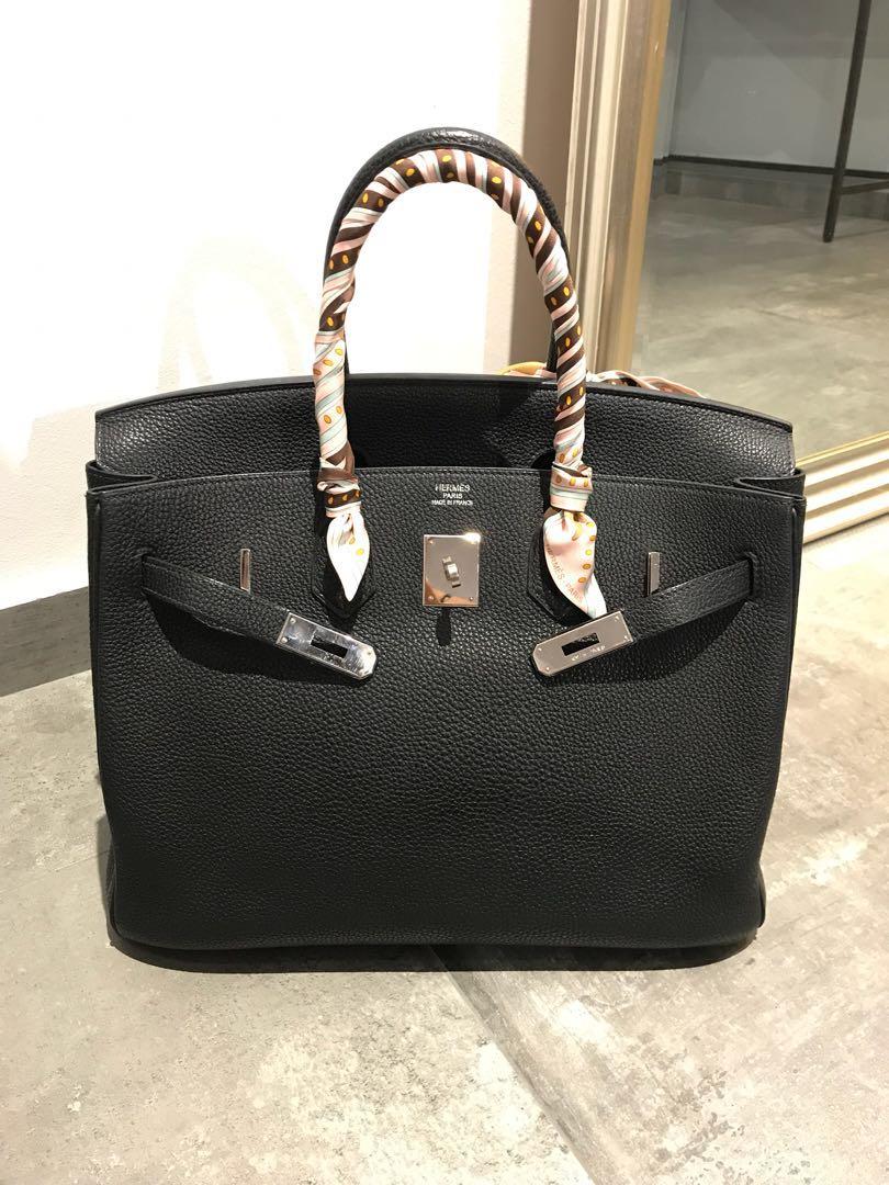 04dc911df0e7 Hermes Birkin B35 Black Togo PHW Bag