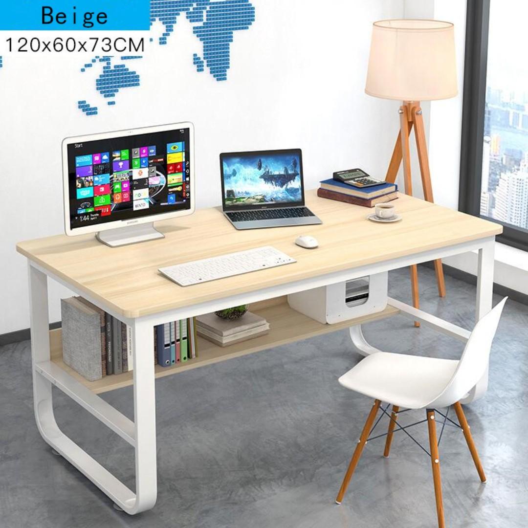 long desks for home office. home office desk modern wood table living room study rumah u0026 perabot perabot di carousell