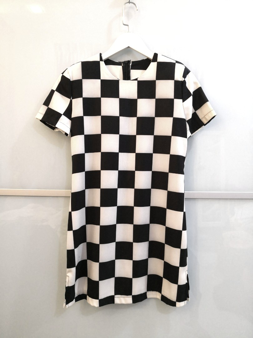87fa53547e9c5 Louis Vuitton Inspired Checkered Shirt Dress