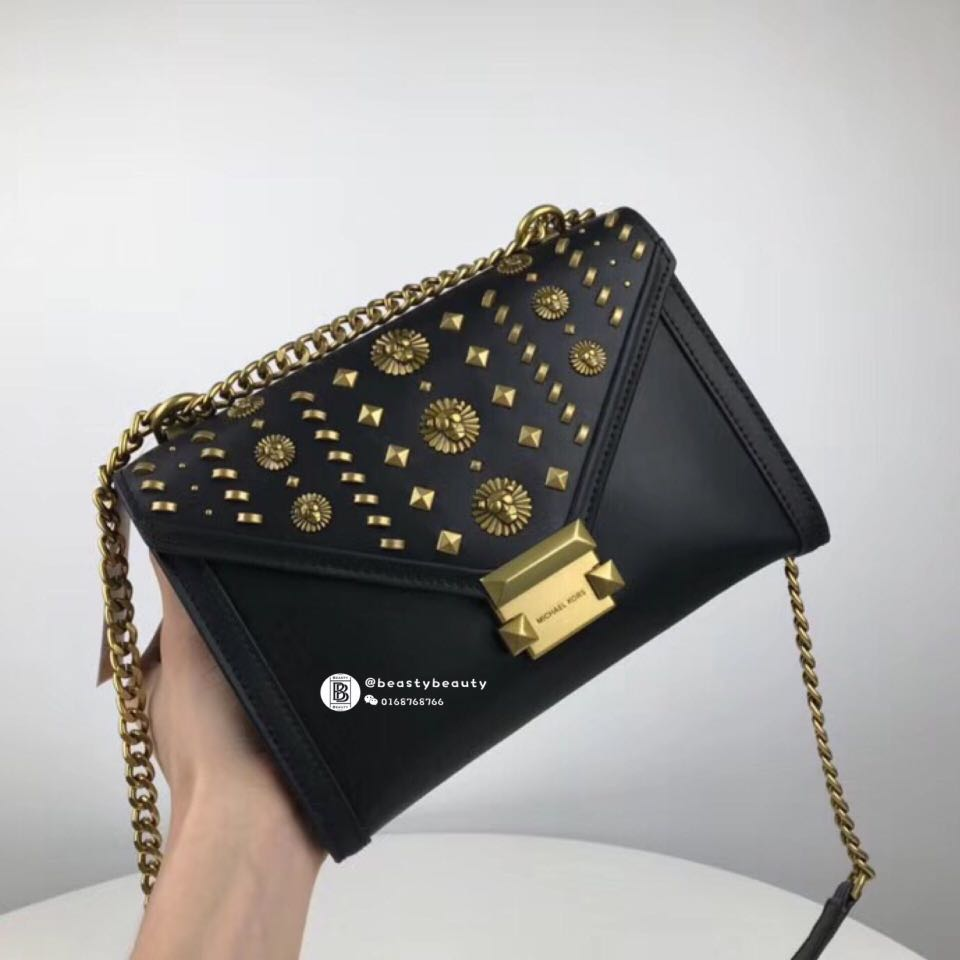 ca5ffa1abb6d Michael Kors Whitney Large Embellished Leather Convertible Shoulder ...