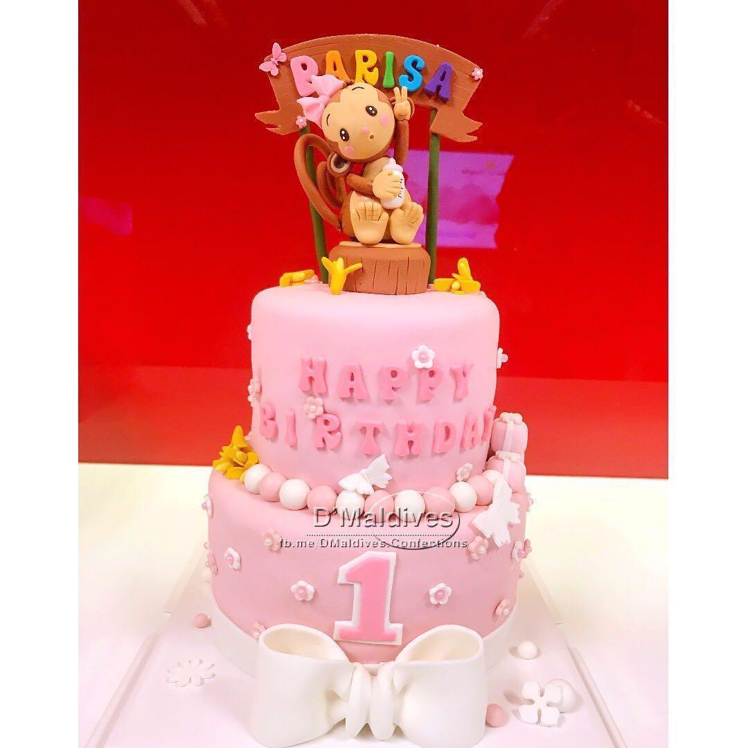 Monkey Themed Customized Babyshower Cake Food Drinks