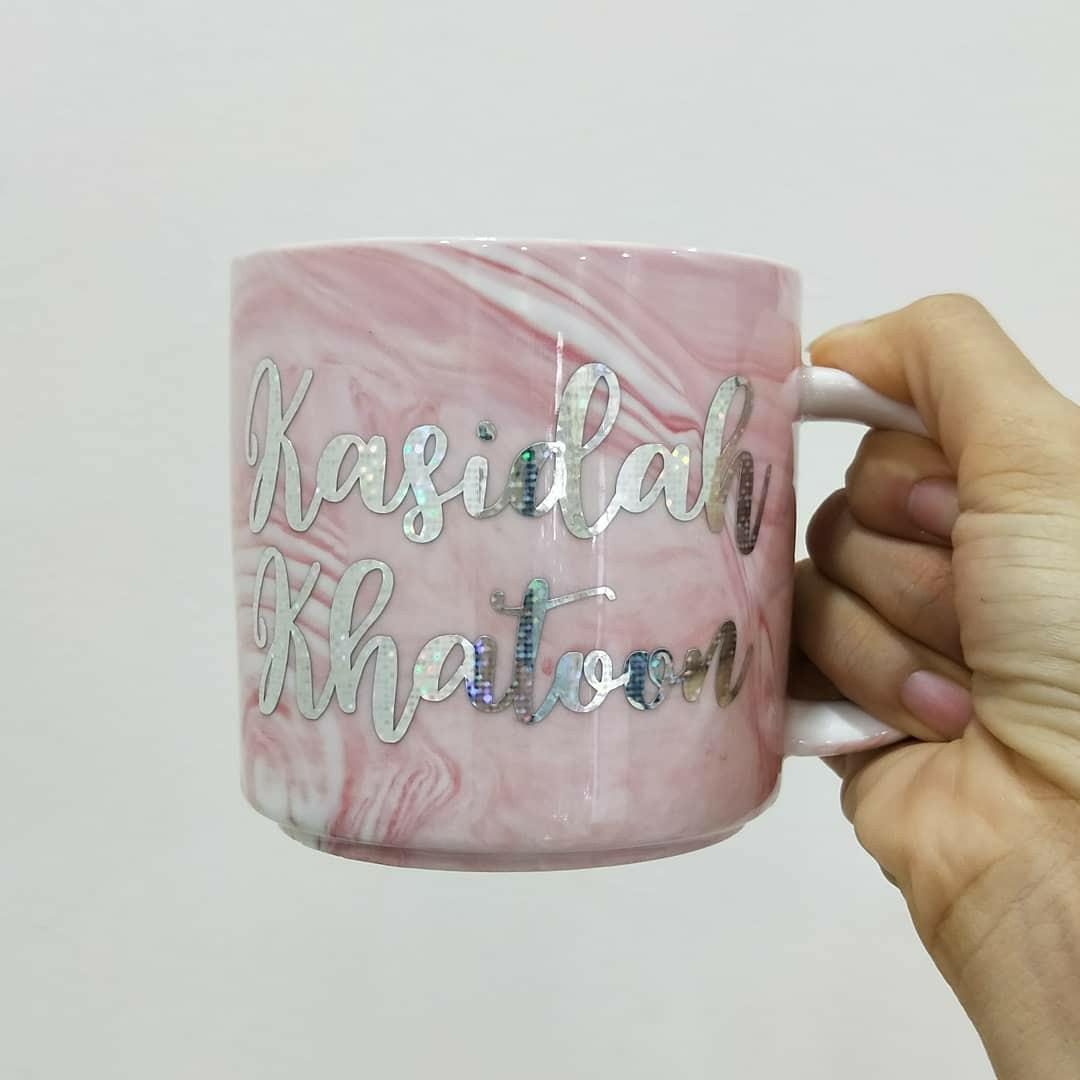 Name Personalised Coffee Marble Ceramic Mug Teacher Day Corporate Event Gift Design Craft Handmade Craft On Carousell