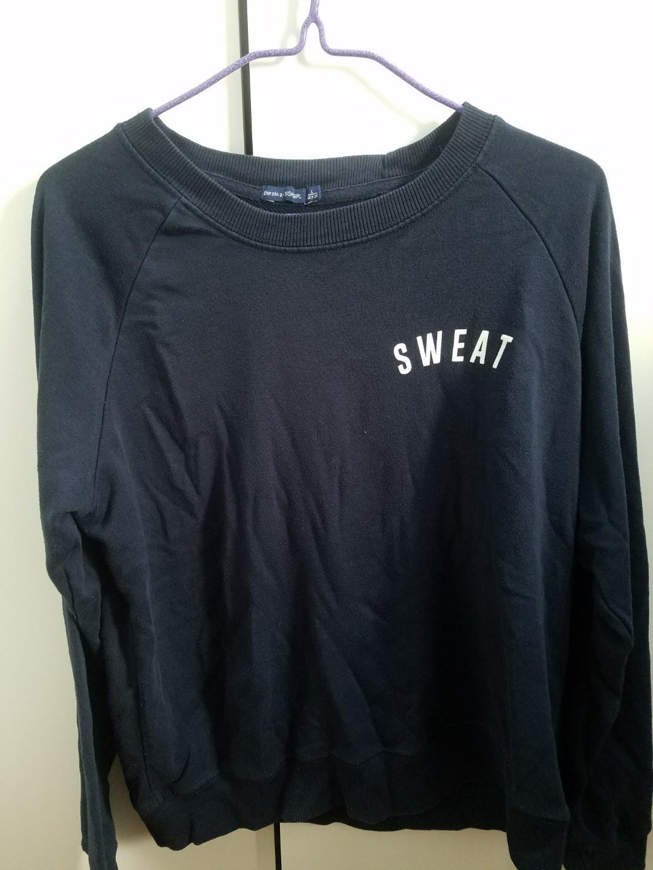 "Navy ""sweat"" sweatshirt"