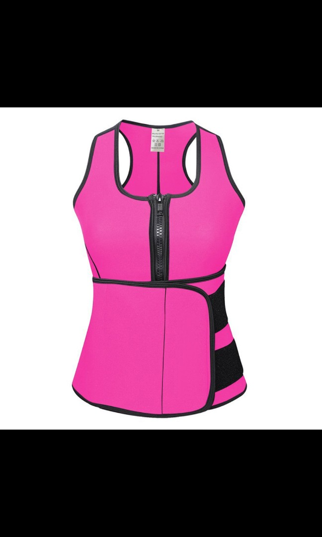 a467697871 Neoprene Sauna Waist trainer vest hot shaper summer workout ...