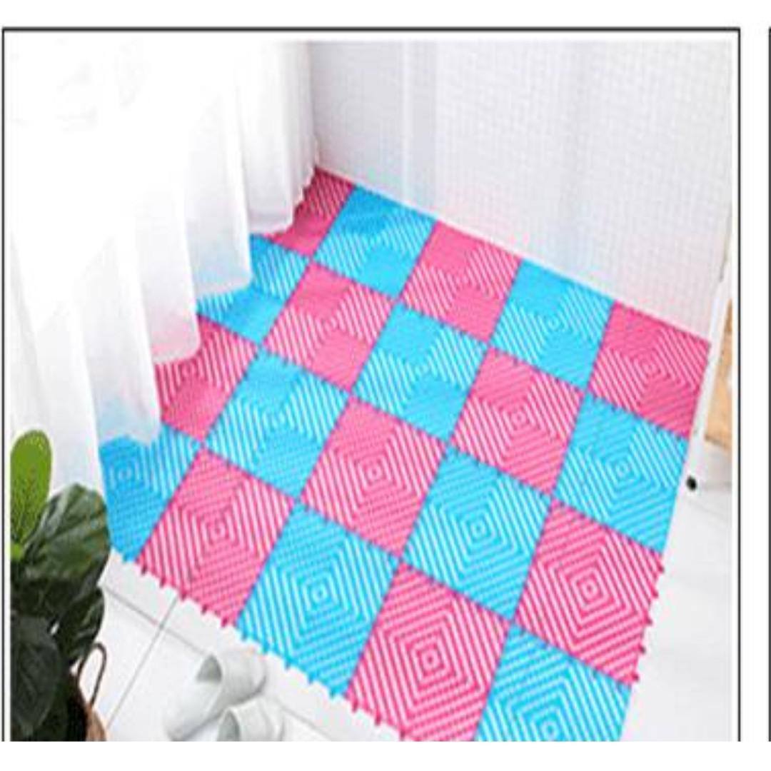 NEW Anti slip Interlocking PVC Bathroom Floor Tiles Mat ...