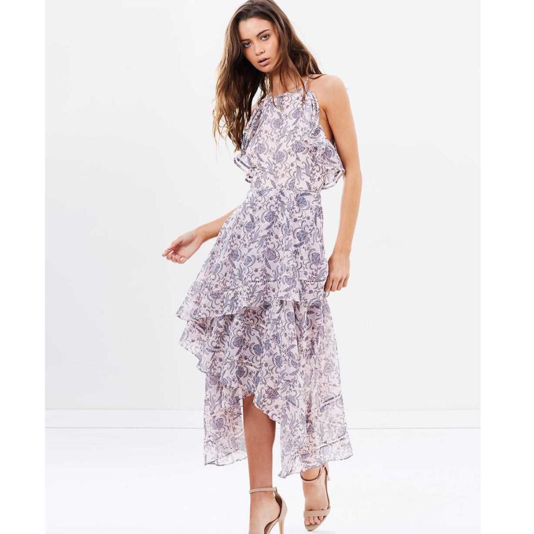 NEW Keepsake the label Wallpaper Lovers Holiday Dress/Maxi Size L 12 RRP $259.95