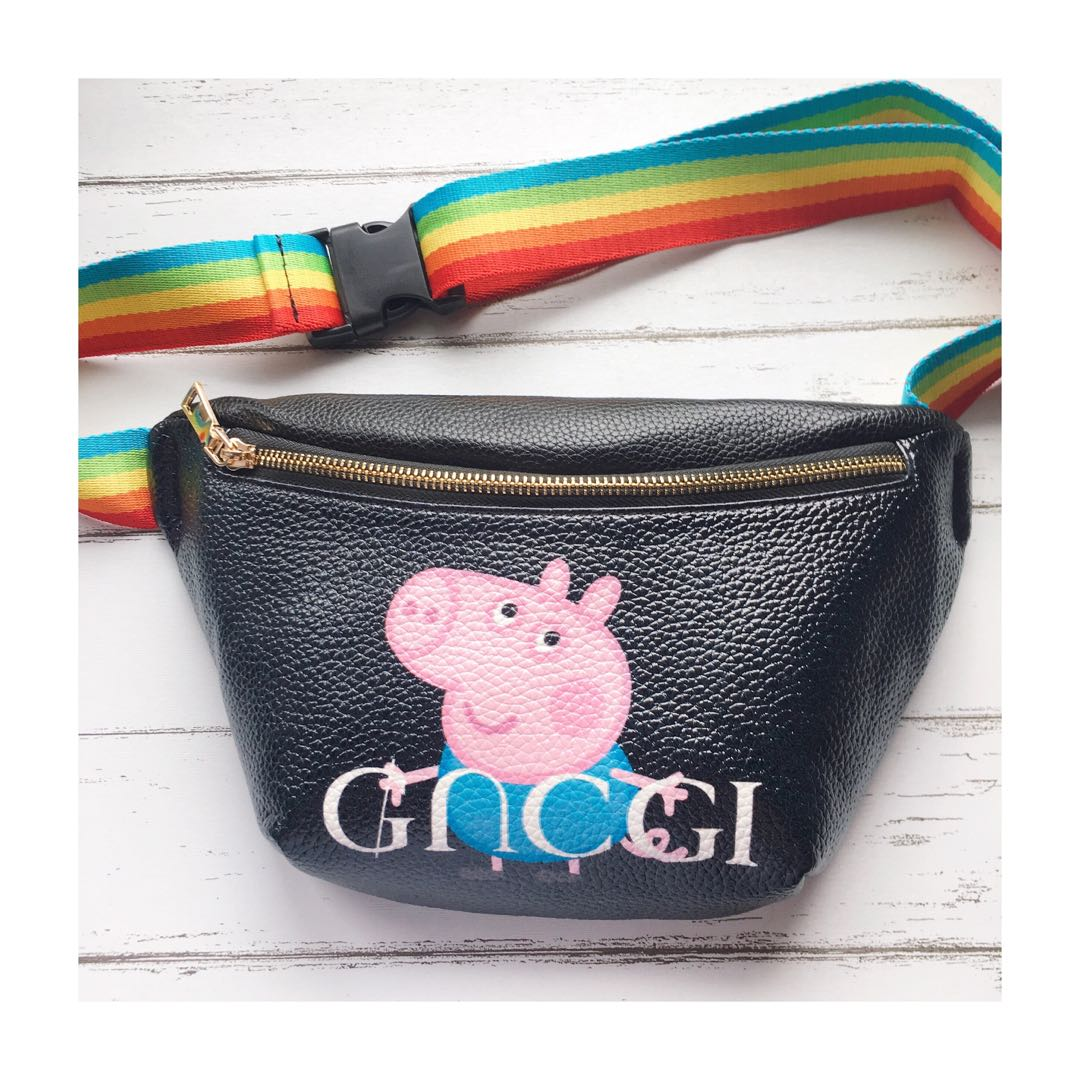 e8b684d915dd Peppa pig x GUCCI fanny pack, Women's Fashion, Bags & Wallets on Carousell
