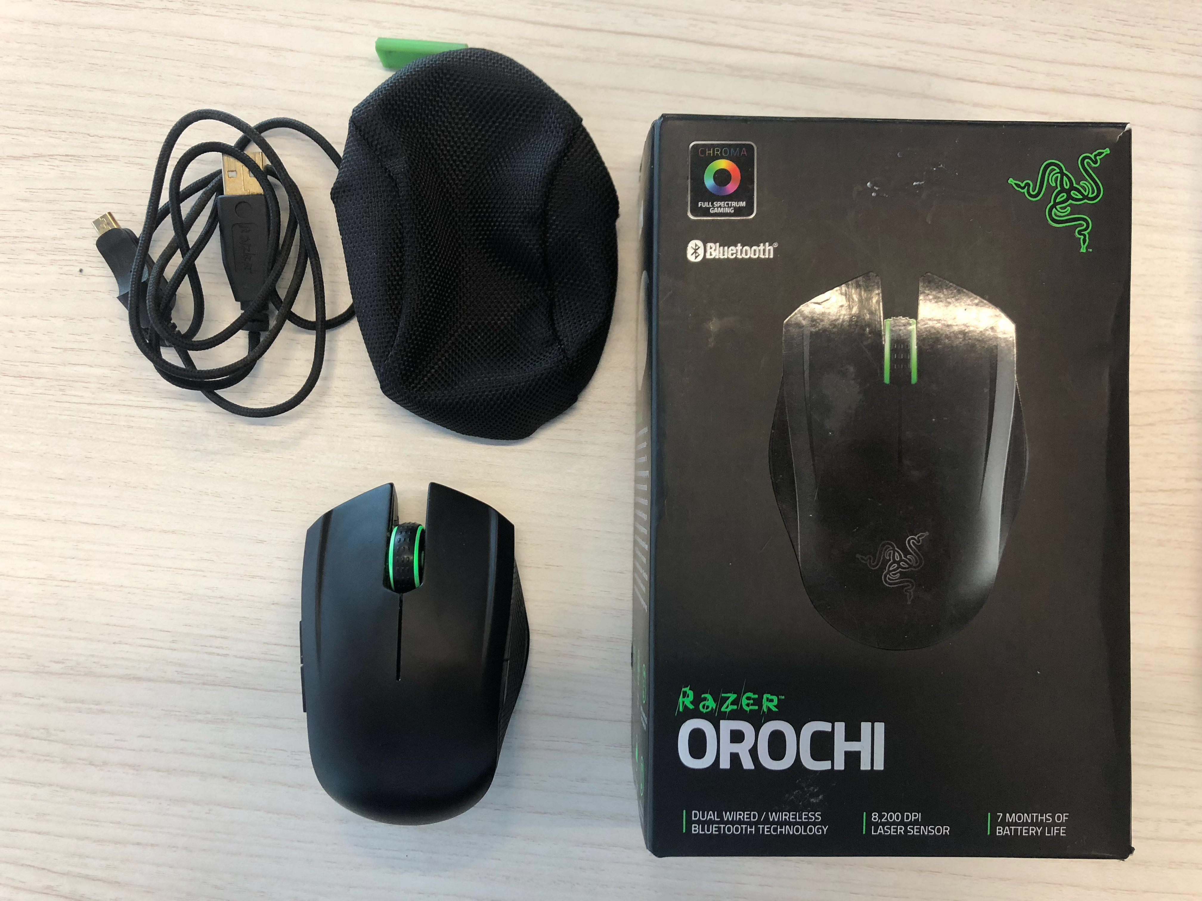 d2732fce2c9 Razer Orochi Chroma Bluetooth Gaming Mouse, Electronics, Computer Parts &  Accessories on Carousell