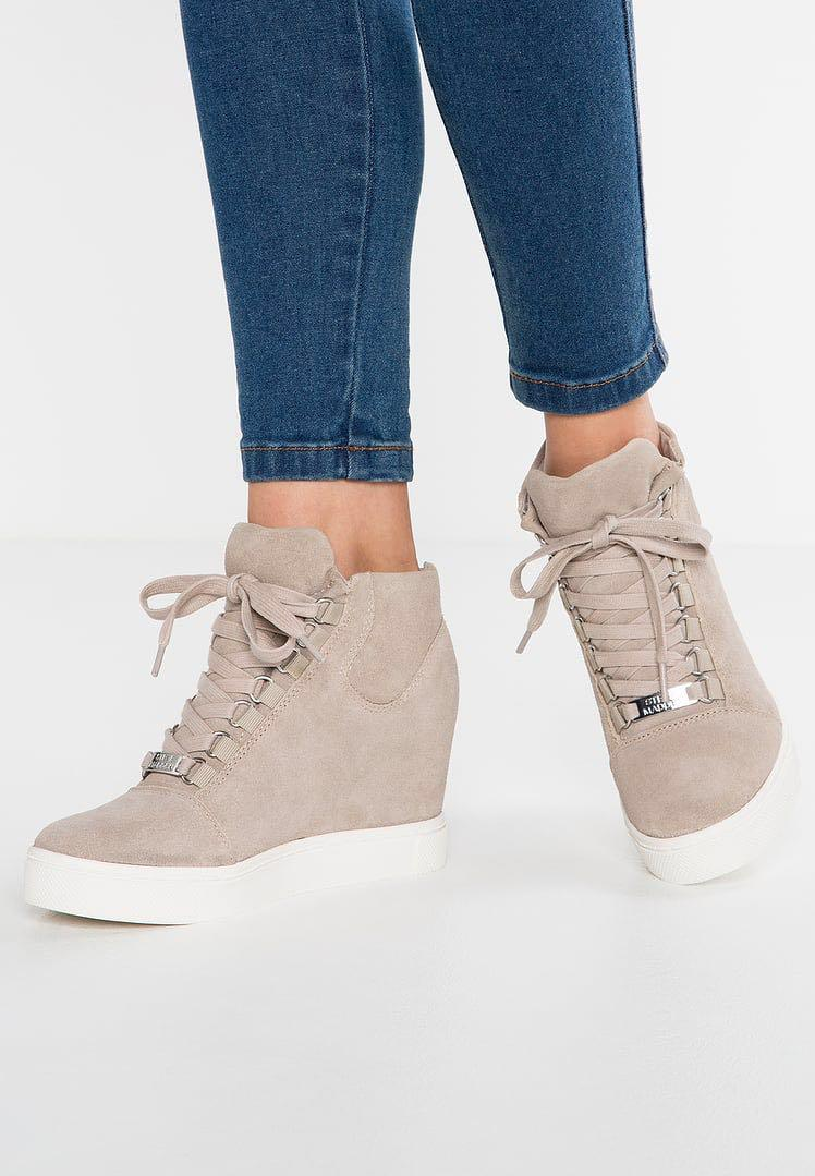 Taupe Women Shoes Trainers High-top