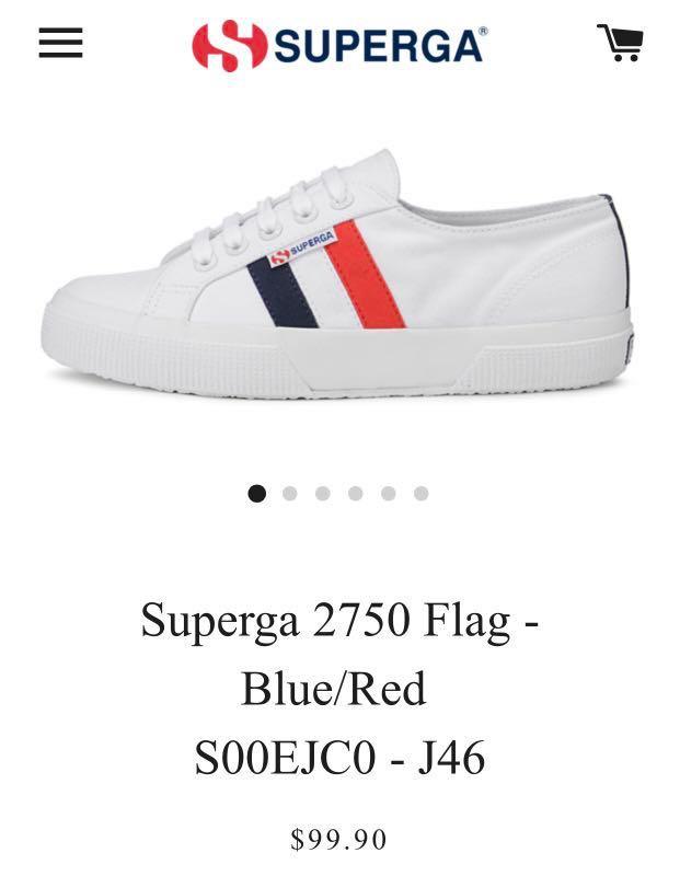 Superga 2750 Flag - Blue/Red S00EJC0