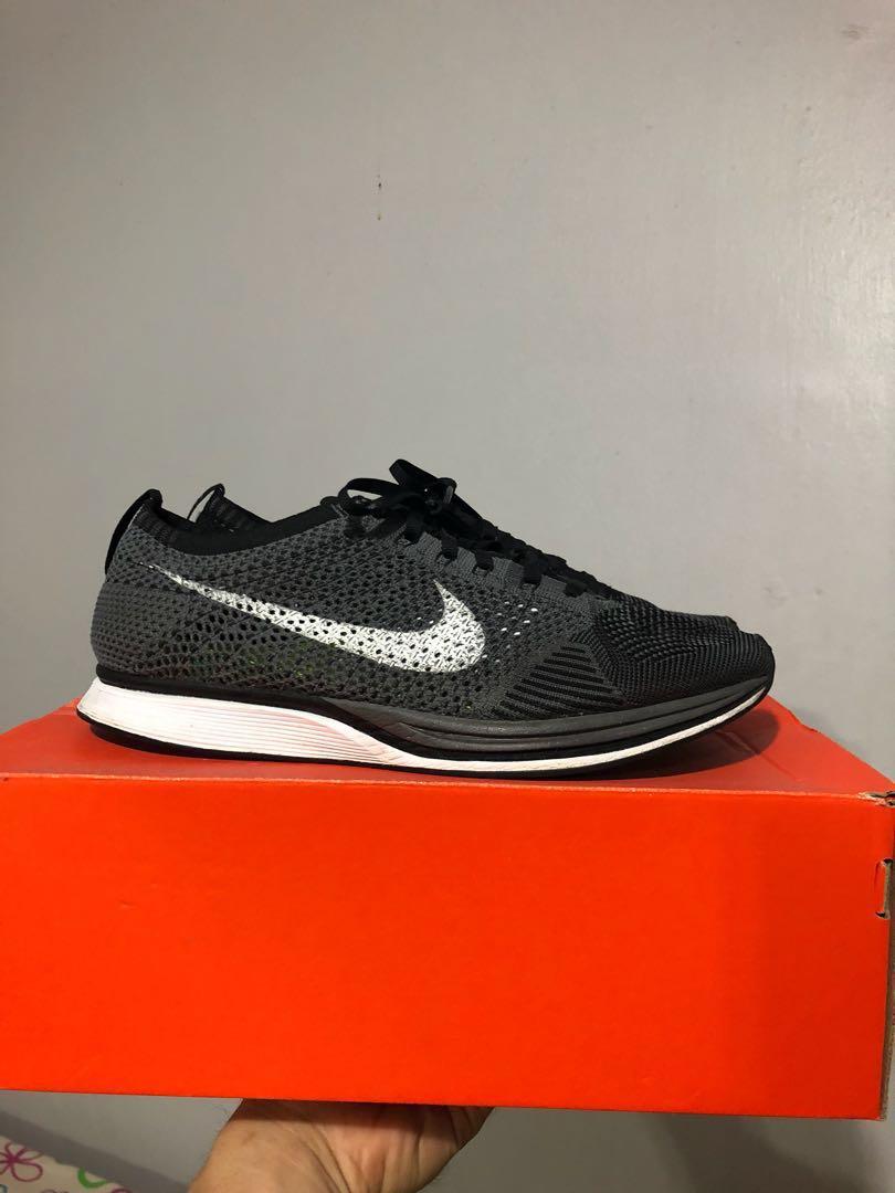 f55af87557227f US 10 Nike Flyknit Racer Grey