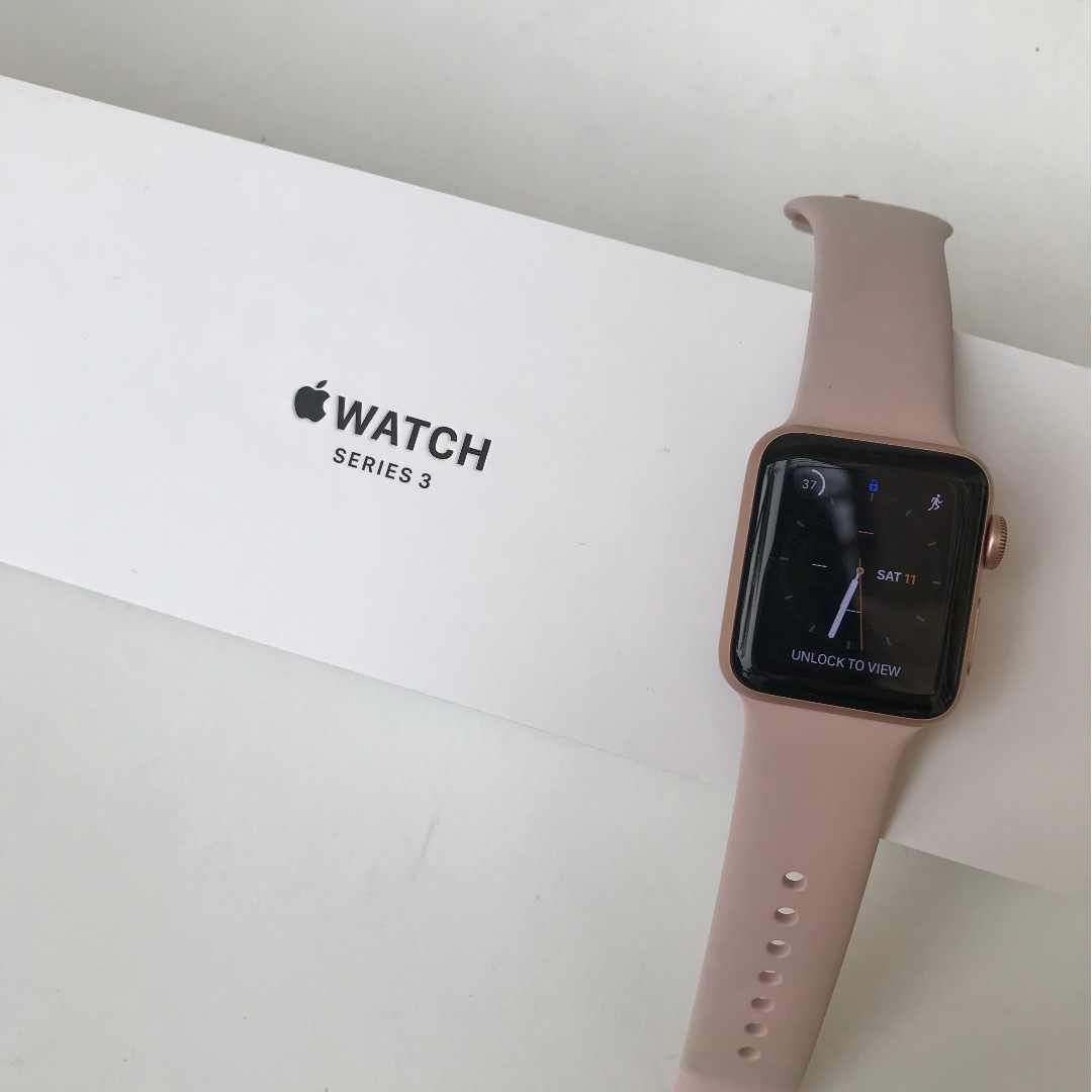 Used Apple Watch Series 3 Rose Gold Shop Clothing Shoes Online