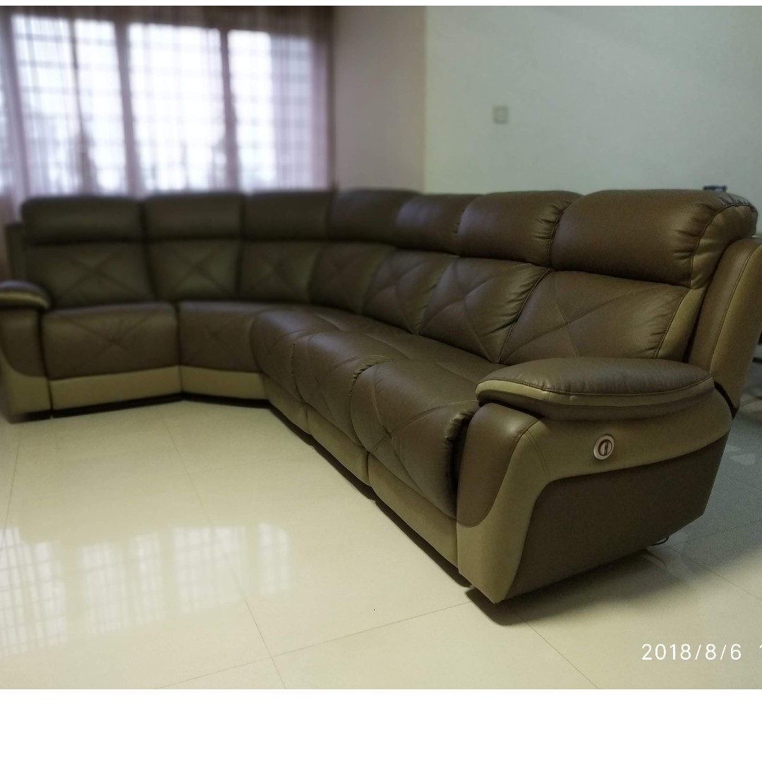 Very New Recliner Sofa Furniture Sofas On Carousell