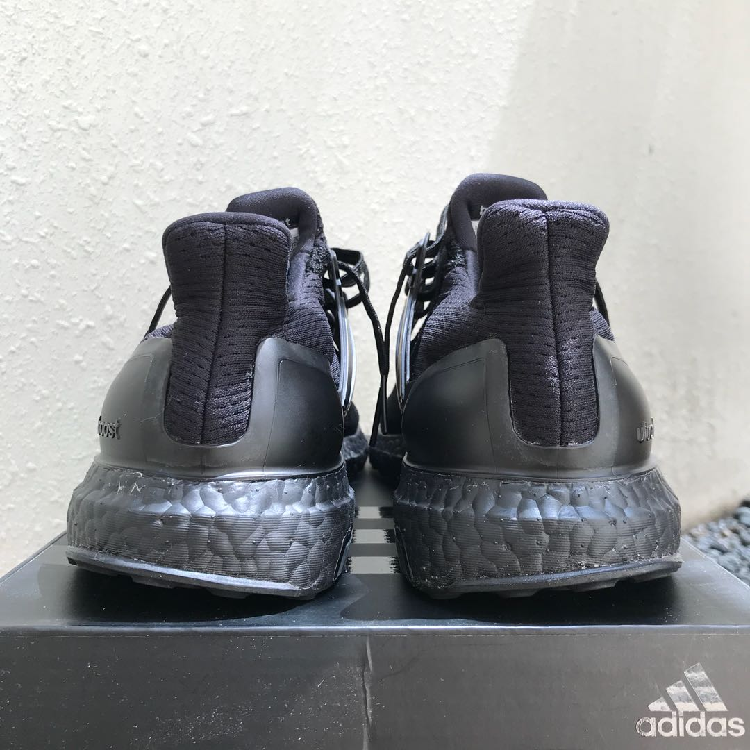 df07c2cef VNDS US10.5 Adidas Ultra Boost Triple Black 1.0