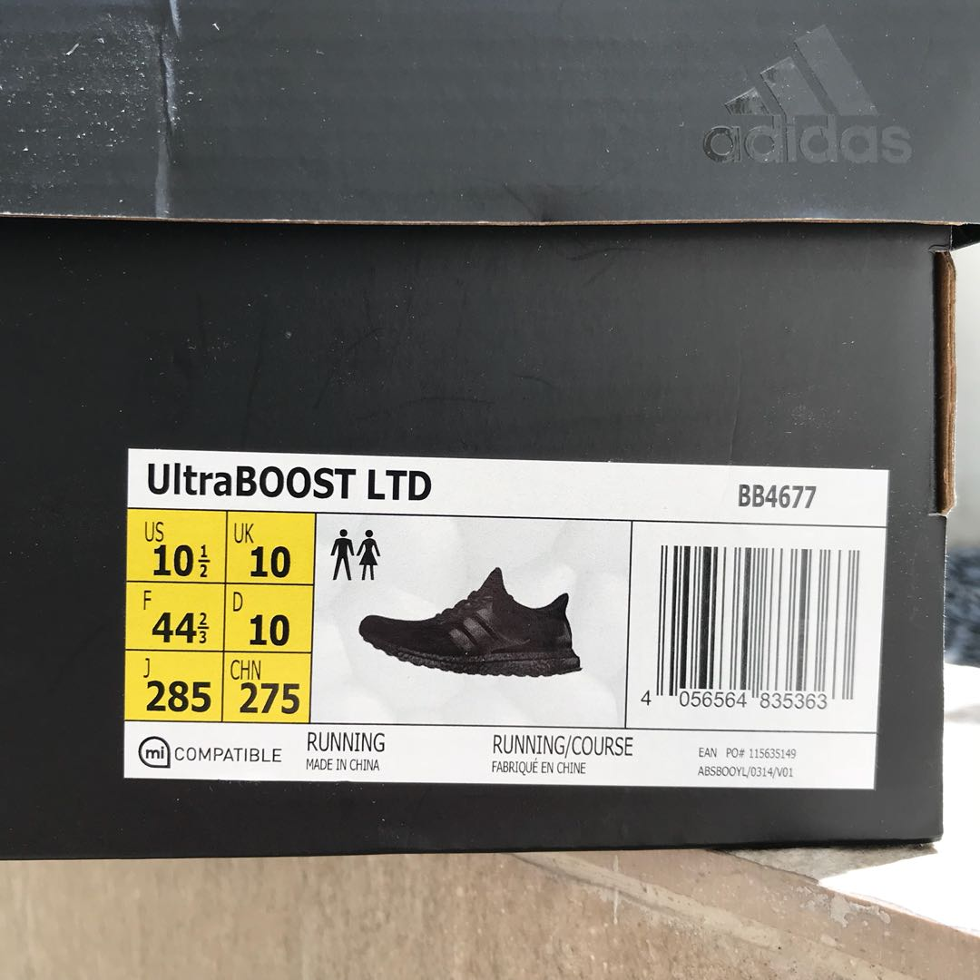 df07c2cef VNDS US10.5 Adidas Ultra Boost Triple Black 1.0