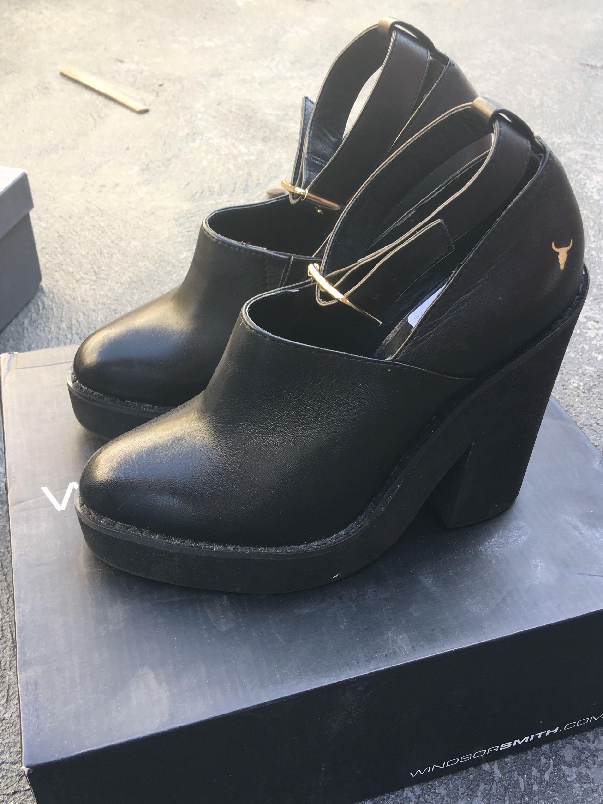 Windsor Smith black boots 5.5 AU