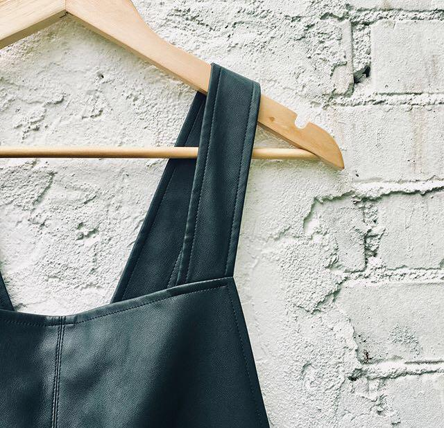 Zara Black Leather Pinafore Retro style dress - size small, barely used