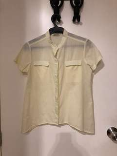 Mossimo Pale Yellow Top (S)