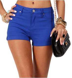 🚚 Giordano Royal Blue Khaki Regular Shorts