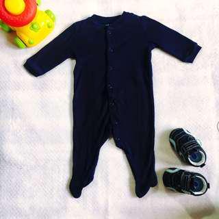 Baby Boy Plain Navy Blue Bodysuit (JOE FRESH 0-3M on tag)