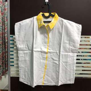 White yellow collar