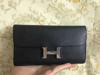Authentic long wallet hermes ,80%new,conditions as pic