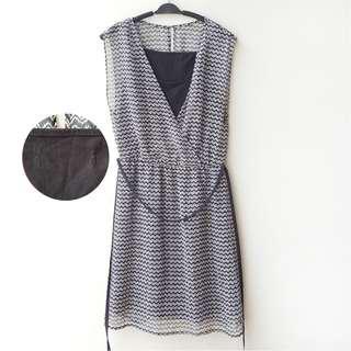 The Executive Chiffon Pattern Dress