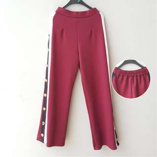 Red Button Pants
