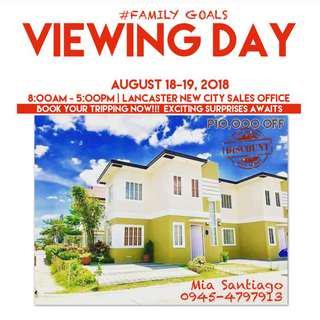 Viewing day promo, house and lot for sale