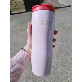 韓國星巴克Concord粉紅色不鏽鋼隨行杯591ml