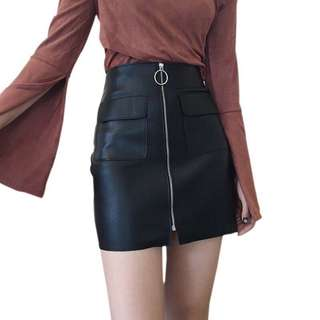 SALE‼️ Black Leather Skirt