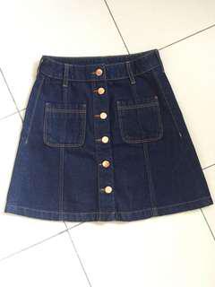 H&M short jeans skirt