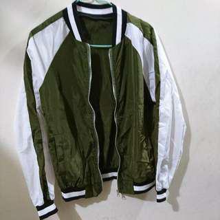 Maple thin jacket wind breaker dark green