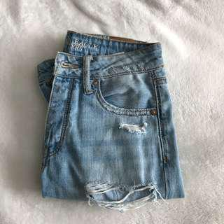 American Eagle Distressed Girlfriend Jeans