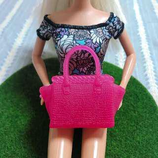 🚚 芭比娃娃時尚達人桃紅蝙蝠包大提包|Janet Style