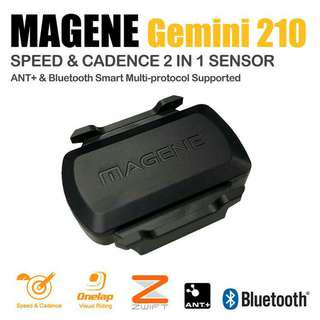 Magene gemini 210 速度& 踏頻 Speed & Cadence ANT+ Bluetooth sensor(Garmin、手機都用得)