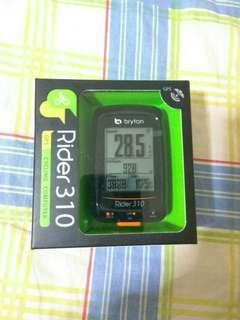 Bryton Rider 310 GPS Cycling Computer 中文無線GPS單車碼錶(含 底座)~~~送機身保護套連膜