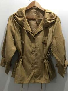 Golden Brown Drawstring Jacket