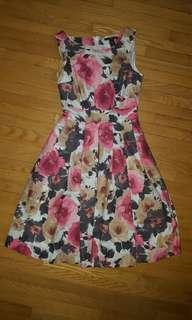 H&M floral pattern dress size 4